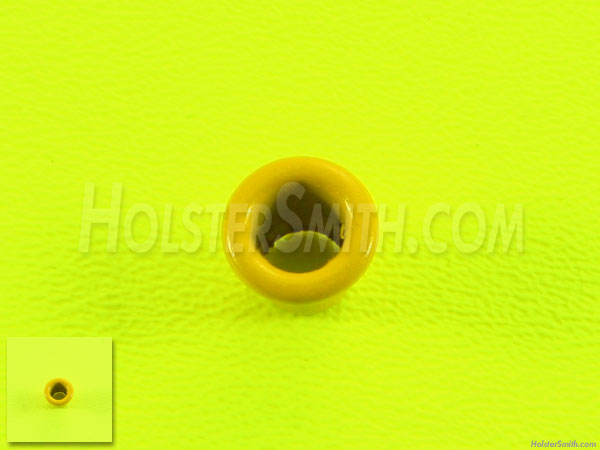 Set of 100 Kydex Holster Eyelets for .080 Tactical DIY Holster Supplies 8-9 1//4 Safety Yellow Rivets Kydex Eyelets .093 Kydex Yellow Finish